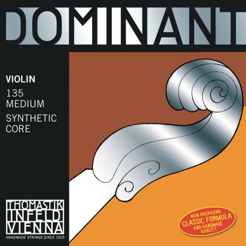 Thomastik Dominant 4/4 Violin String Set - Medium Gauge - Aluminum/Steel Loop-End E